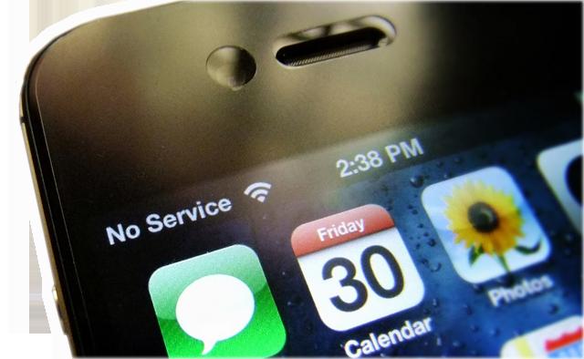 Smartphone sin señal