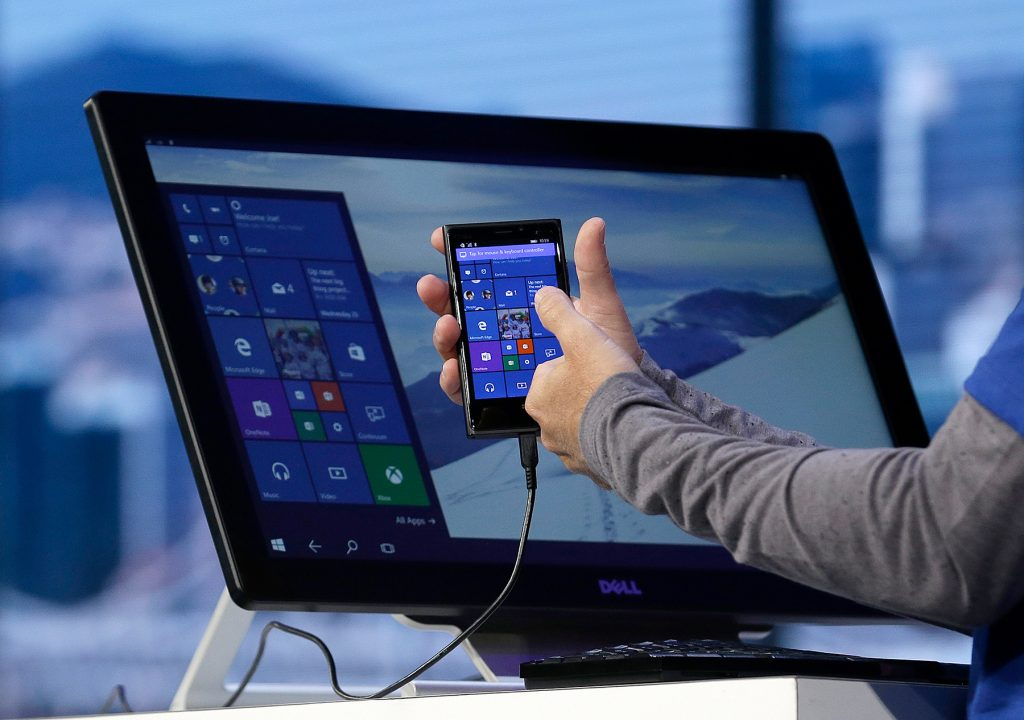 windows 10(diez) mobile continuum