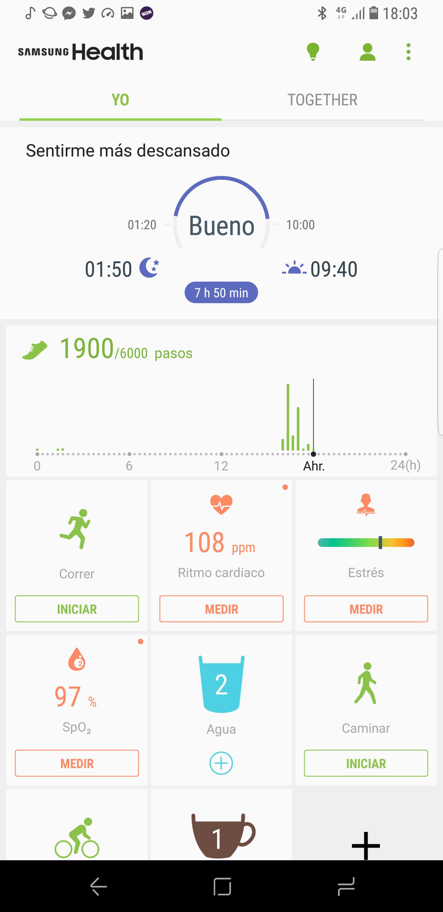 Con La Ayuda De Samsung Health Podremos Ir Registrando Nuestra Actividad Fisica Asi Como Nuestro Ritmo Cardiaco El Nivel Estres O Oxigeno