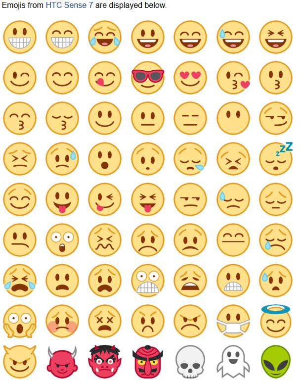 emojis HTC