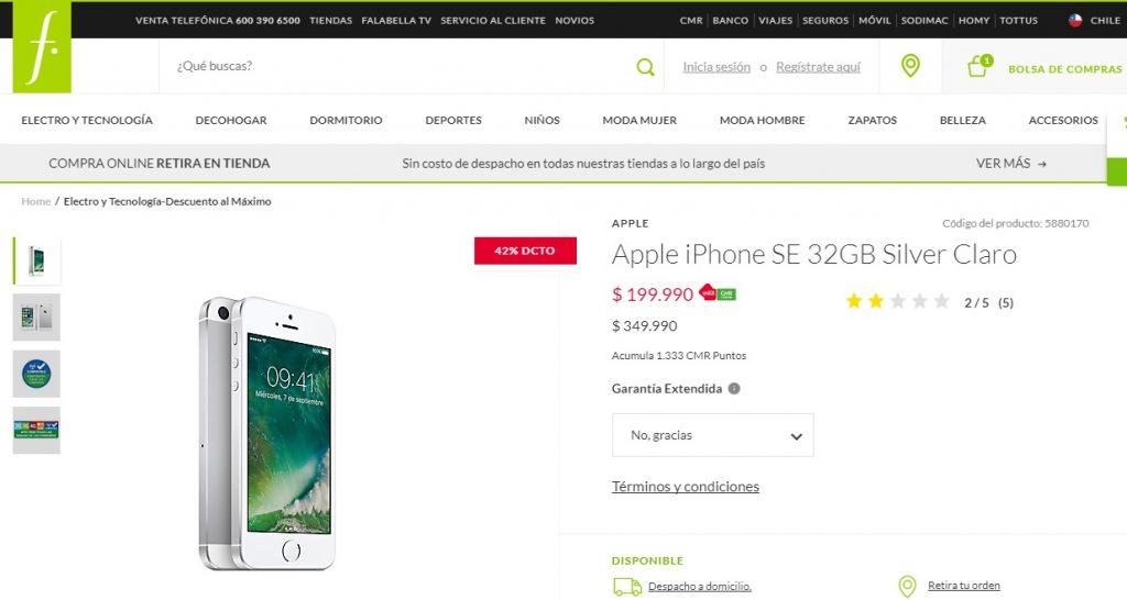 iphone se 32gb 199