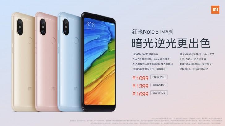 Xiaomi Hace Oficial El Redmi Note 4 Con Pantalla De 5 5 Y: Xiaomi Redmi Note 5 Es Oficial En China Con Cámaras