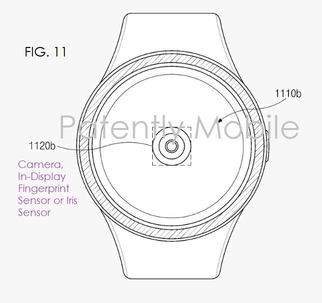 patente samsung lector huellas pantalla smartwatch