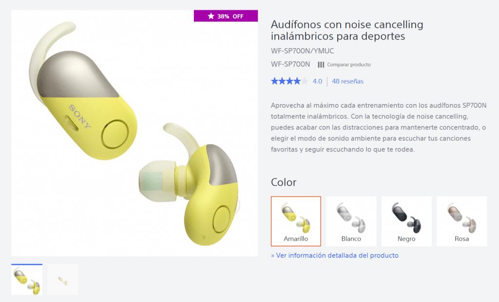 audífonos Sony inalámbricos 3