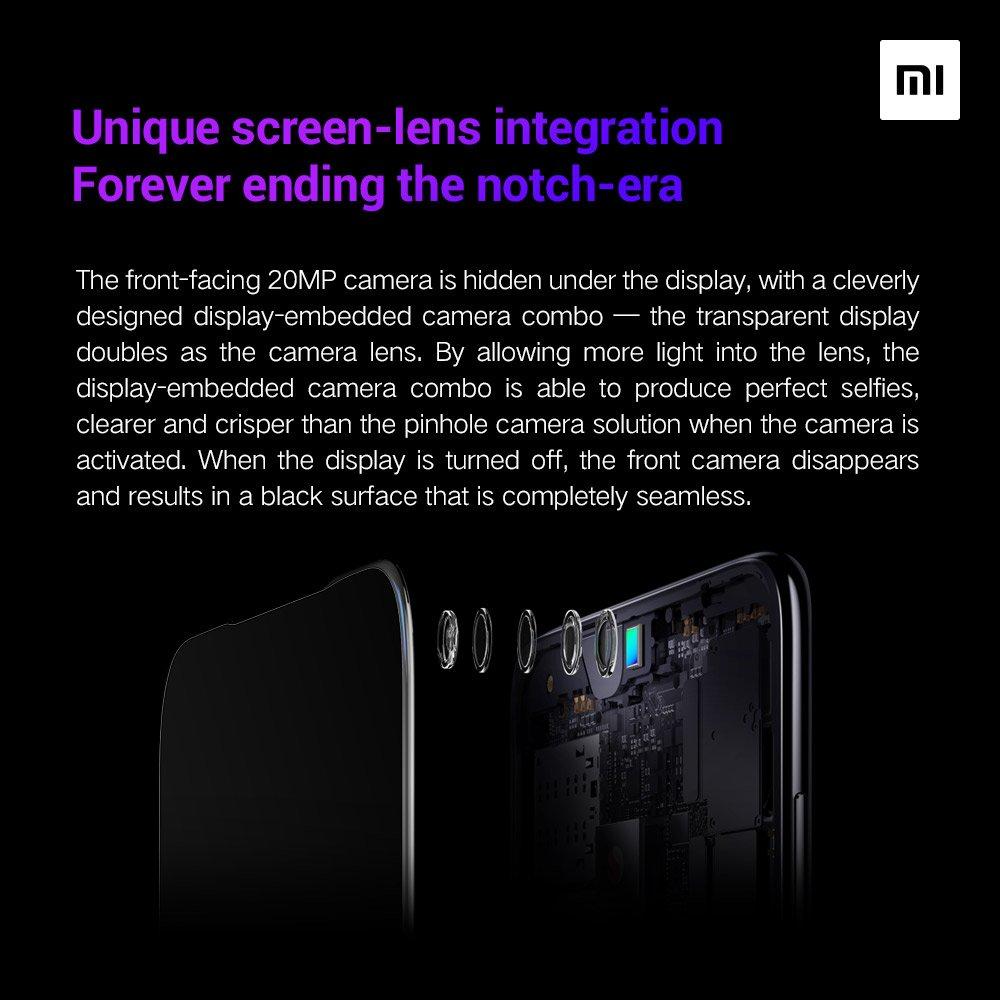Xiaomi cámara frontal bajo pantalla 3