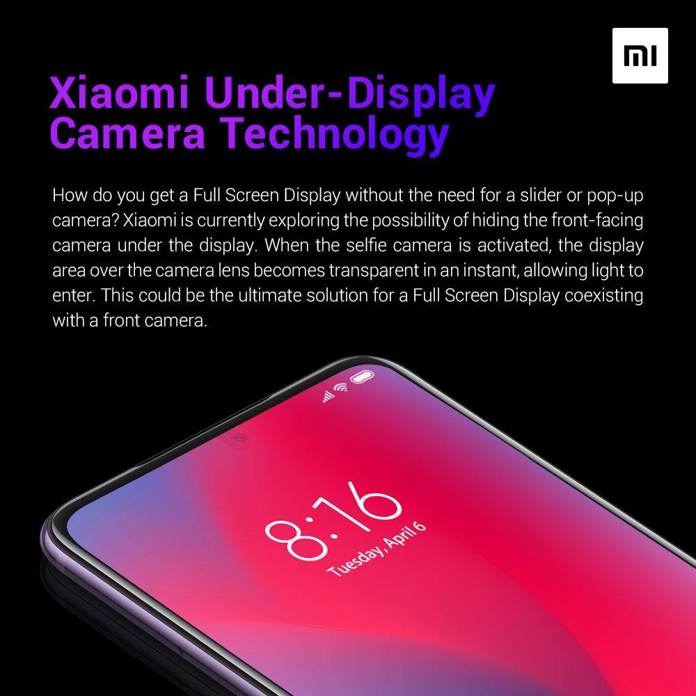 Xiaomi cámara frontal bajo pantalla